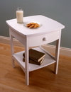 Winsome 10218 Wood Curved End table/Night Stand with one drawer