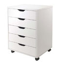 Winsome 10519 Halifax Cabinet for Closet / Office, 5 Drawers, White
