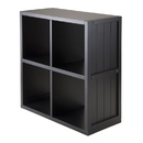 Winsome 20025 Shelf 2 x 2 Cube with Wainscoting Panel
