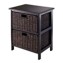 Winsome 20216 Omaha Storage Rack with 2 Foldable Baskets