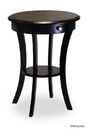 Winsome 20227 Wood Round Accent Table with one drawer and shelf