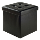 Winsome 20415 Ashford Ottoman with Storage Faux Leather