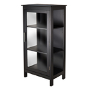 Winsome 20523 Poppy Display Cabinet with Glass Door, Black Finish