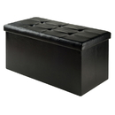 Winsome 20627 Ashford Ottoman with Storage Faux Leather