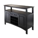 Winsome 20745 Jasper Buffet Cabinet, Black Finish