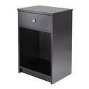 Winsome 20914 Squamish Accent table with 1 Drawer, Black Finish