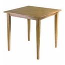 Winsome 34130 Groveland Square Dining Table, Shaker Leg, Light Oak Finish