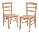 Winsome 34232 Wood Set of 2 Ladder Back Chair, RTA