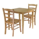 Winsome 34330 Groveland 3pc Dining Set, Square Table with 2 Chairs