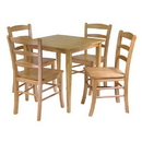 Winsome 34530 Groveland 5-pc Dining Table with 4 Chairs