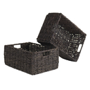 Winsome 38207 Granville Set of 2 Medium Baskets, Chocolate Finish
