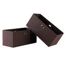 Winsome 38222 Torino 2-Pc Set Folding Fabric Baskets Chocolate