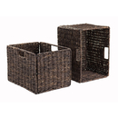 Winsome 38233 Granville Set of 2 Tall Baskets, Foldable, Chocolate Finish