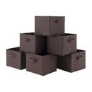 Winsome 38622 Capri Set of 6 Foldable Chocolate Fabric Baskets