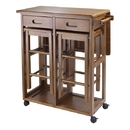 Winsome 39330 Space Saver with 2 Stools, Square