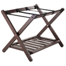 Winsome 40436 Remy Luggage Rack with Shelf in Cappuccino