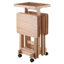Winsome 42820 6-PC Snack Table Set Natural