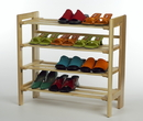 Winsome 81228 Wood Shoe Rack, 4--Tier
