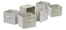 Winsome 82611 Wood Capri Set of 6 Foldable Beige Fabric Baskets