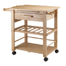 Winsome 83644 Finland Kitchen Cart, Natural Finish