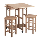 Winsome 89330 Suzanne 3-Pc Space Save Set Beech