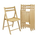 Winsome 89430 Robin 4-PC Folding Chair Set Natural