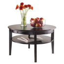 Winsome 92232 Amelia Round Coffee Table with Pull out Tray