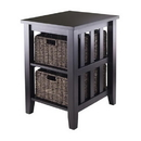 Winsome 92312 Morris Side Table with 2 Foldable Baskets