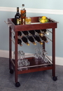 Winsome 92329 Wood Bar Cart, Mirror Top, wine rack