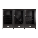 Winsome 92359 3pc Wine Cabinet Modular Set