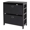 Winsome 92362 Torino 3-PC Set Storage Shelf w/ Black Fabric Baskets