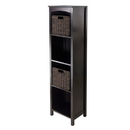 Winsome 92381 3pc Storage 5-Tier Shelf with 2 Small Baskets