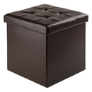 Winsome 92415 Ashford Ottoman with Storage Faux Leather