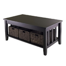 Winsome 92441 Morris Coffee Table with 3 Foldable Baskets