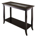 Winsome 92450 Genoa Rectangular Console Table with Glass and shelf