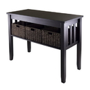 Winsome 92452 Morris Console Hall Table with 3 Foldable Baskets