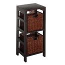 Winsome 92525 Leo 3pc Shelf and Baskets; One shelf, 2 small Baskets; 2 cartons