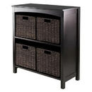 Winsome 92527 5pc Storage 3-Tier Shelf with 4 Small Baskets
