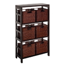 Winsome 92610 Leo 7pc Shelf and Baskets; one shelf, 6 small baskets; 3 cartons