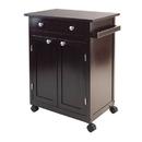 Winsome 92626 Savannah Kitchen Cart, Dark Espresso Finish