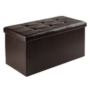 Winsome 92627 Ashford Ottoman with Storage Faux Leather