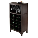 Winsome 92729 Ancona Modular Wine Cabinet with Glass Rack & 20-Bottle