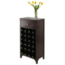 Winsome 92738 Ancona Modular Wine Cabinet with One Drawer & 24-Bottle