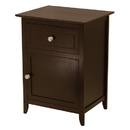 Winsome 92815 Night Stand/ Accent Table with Drawer and cabinet for storage, Color Finish: Espresso