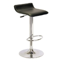 Winsome 93129 Single Airlift Swivel Stool with Black Faux Leather Seat