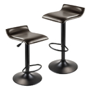 Winsome 93232 Paris Air-lift Adjustable Stool, Set of 2, Dark Espresso Seat and Black Leg Finish