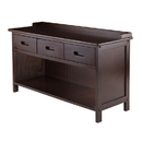 Winsome 94038 Adriana 3-Drawer Bench with Storage