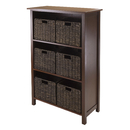 Winsome 94181 Granville 7pc Storage Shelf, 3-section with 6 Foldable Baskets