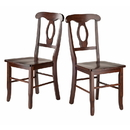 Winsome 94208 Renaissance 2-Pc Set Key Hole Back Chairs