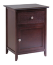 Winsome 94215 Night Stand/ Accent Table with Drawer and cabinet for storage, Color Finish: Antique Walnut